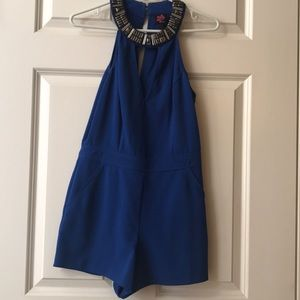 2B Bebe Royal Blue Romper